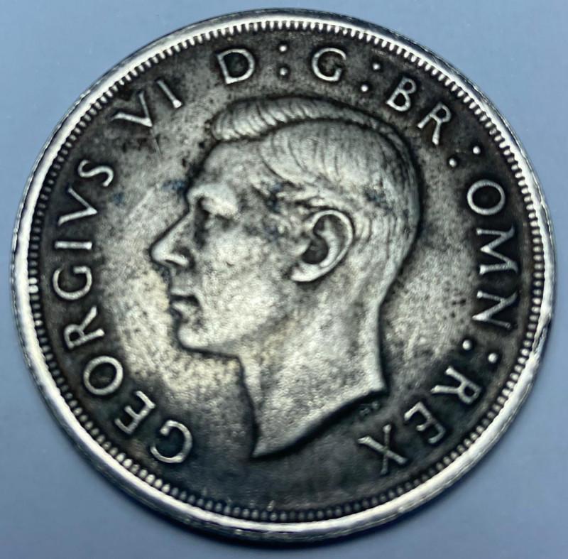 1937 George VI Coronation Silver Crown, VF
