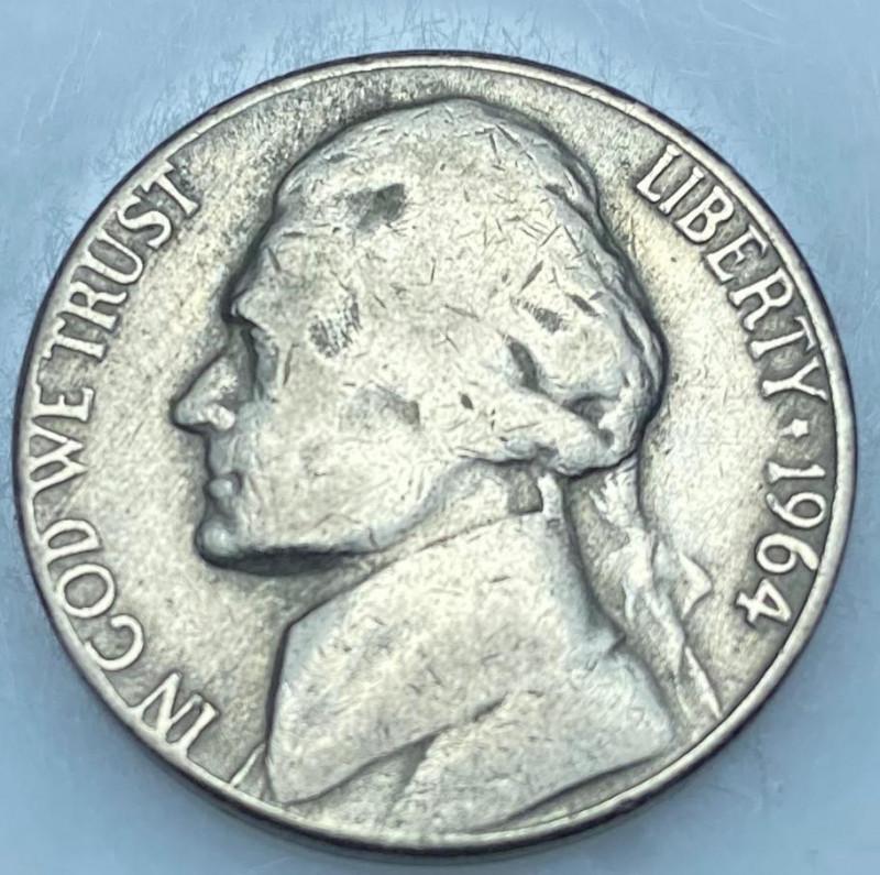 JEFFERSON FIVE CENTS 1964 D 5C MS