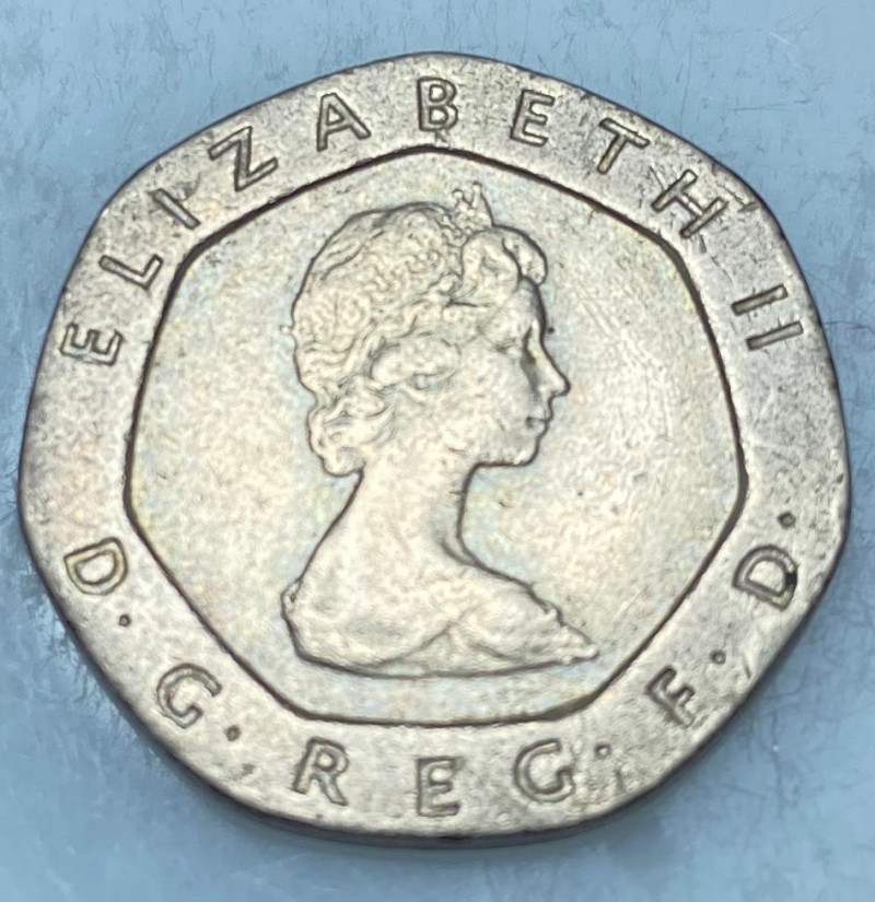 Twenty Pence 1982, Coin from United Kingdom's