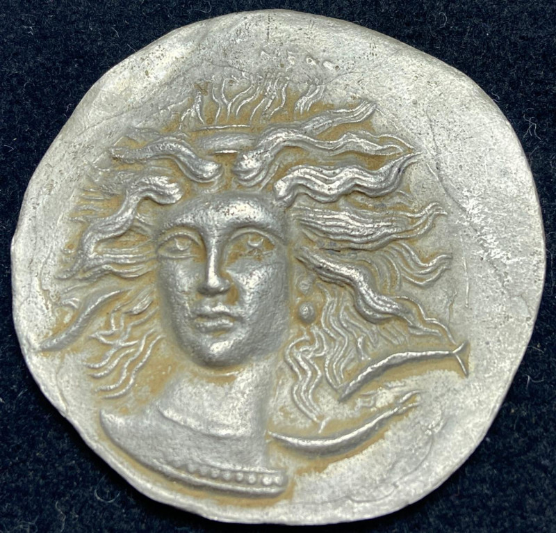 Ancient Greek silver coin from Syracuse, 404-390 BC (silver)