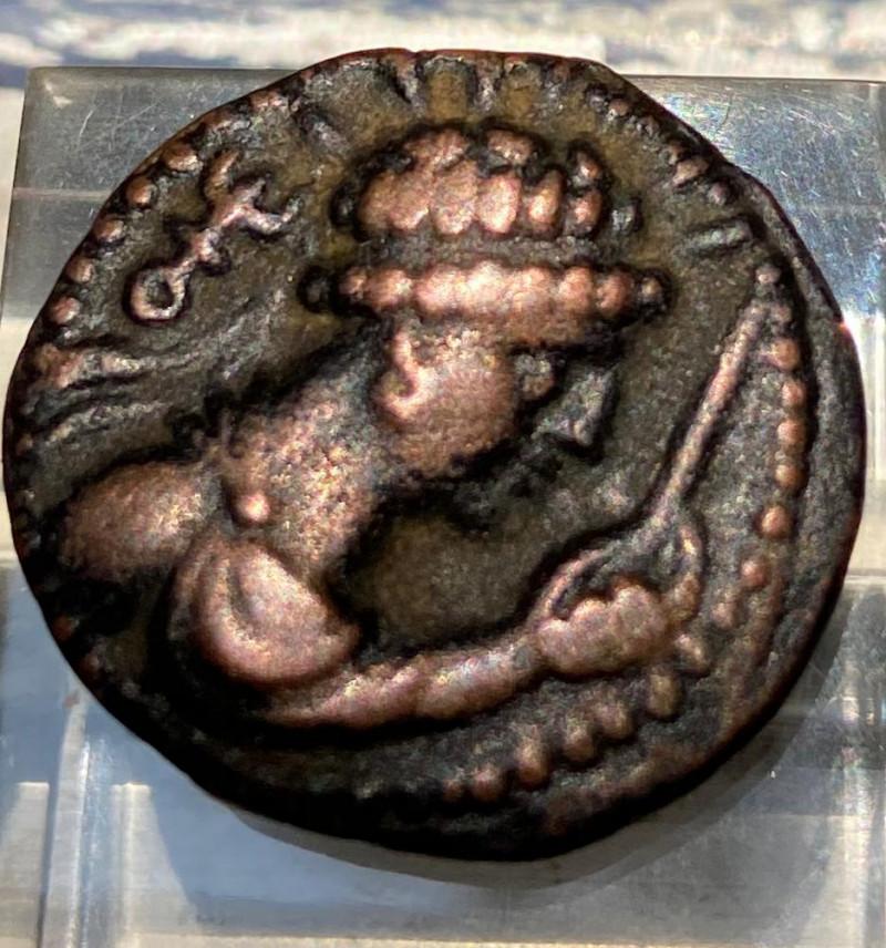 Meander Indo-Greek king coin
