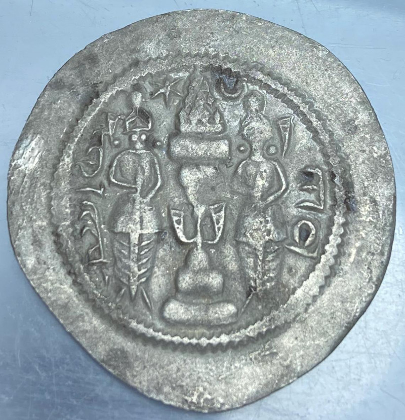 Ancient Greek silver coin from Syracuse, 404-390 BC