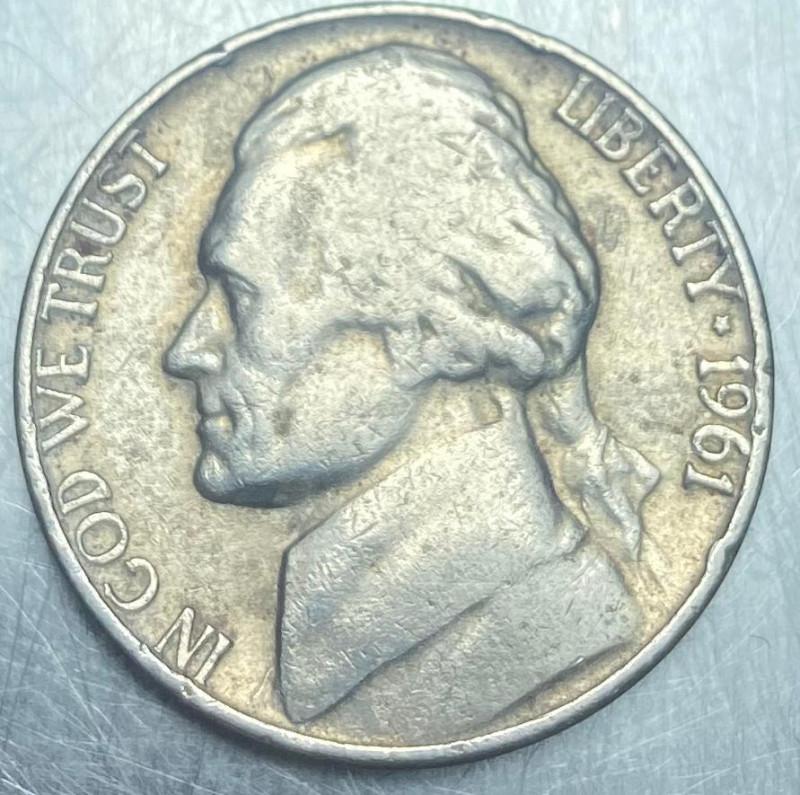 5 cents 1961, USA Jefferson Nickel