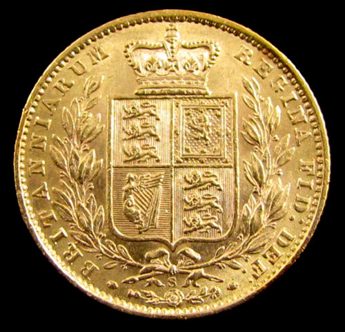 GOLD COIN  SOVERIGN  1871 SYD SHIELD WW INCLUSIVE CO 830