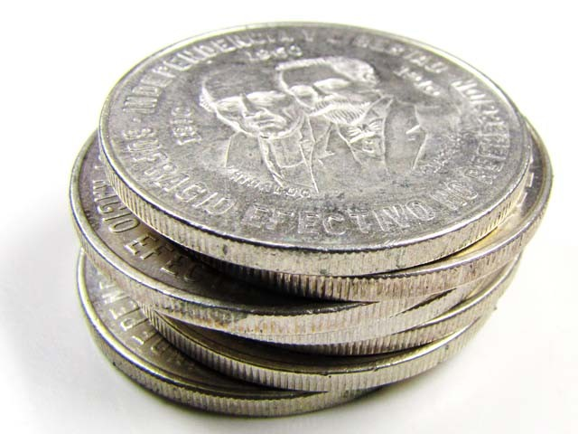 PARCEL 7  1955-60  MEXICAN SILVER  COINS 10 PESO     CO837