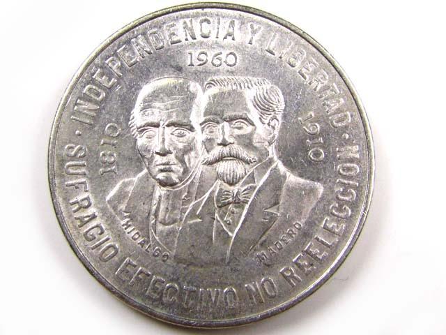 PARCEL 7 1955-60 MEXICAN SILVER COINS 10 PESO CO837