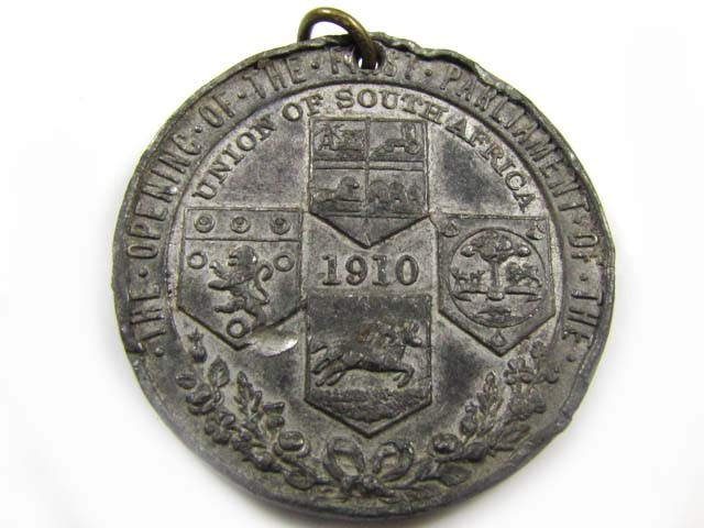 MEDALLION 1910  UNION OF SOUTH AFRICA CO 848