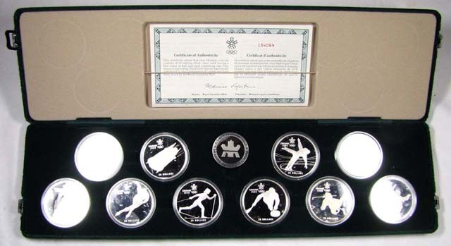 10 PC CANADIAN SILVER OLYMPICS GALGARY 1988    CO861