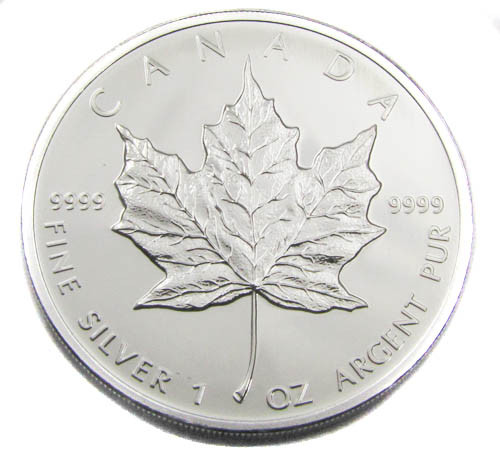 UNC CANADIAN MAPLE SILVER 2010 COIN CO 911