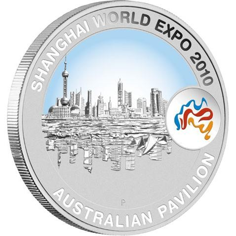 Shanghai World Expo 2010 1oz Shanghai Cityscape Silver Coin