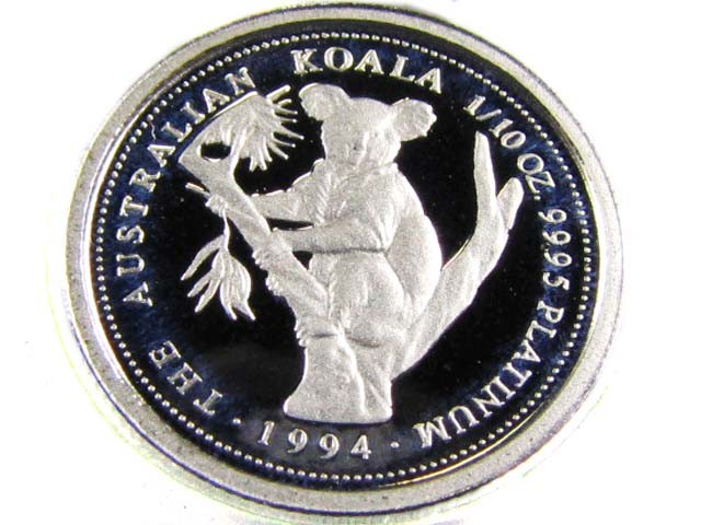 CERTIFIED PLATINUM 1/10 COIN 1994  CO 950