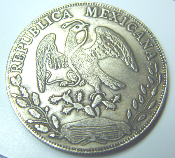 OLD COIN MEXICO 8 REALES 1839 OZ 5