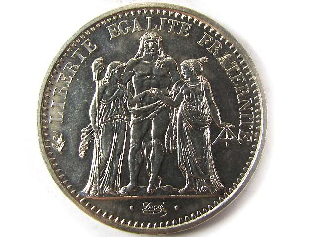 1965 SILVER 10 FRANCS  COIN CO 960