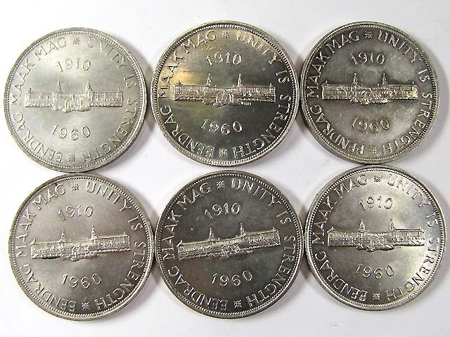 SIX  50TH ANNIVERSARY 1960 SILVER COIN CO 963