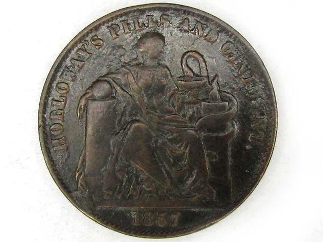 BRITISH 1857  PILLS N OINTMENT TOKEN  J8
