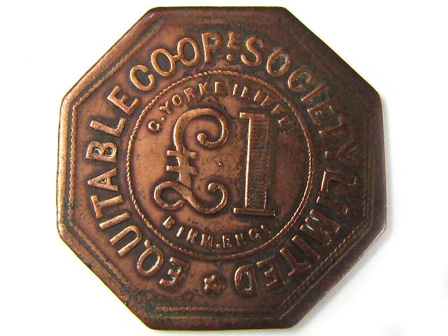 ONE POUND  EQUITABLE COOPERATIVE  TOKEN  J838