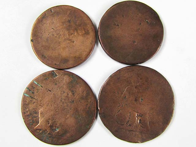 FOUR UK COPPER MEDALLION   TOKEN S J848