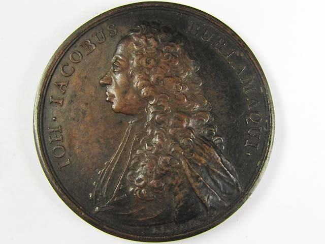 JACOBUS PORTRAIT MEDAL IN BRONZE  J855