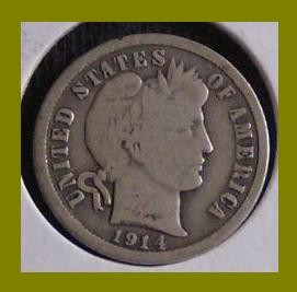 1914 BARBER DIME / SILVER U.S. COIN