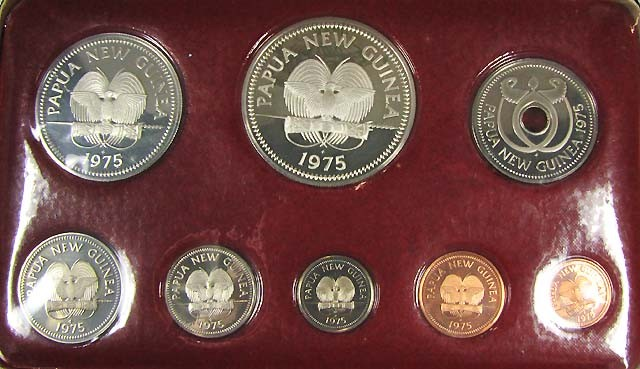 FIRST  1975 COINAGE OF PAPUA AND NEW GUINEA   CO 1005
