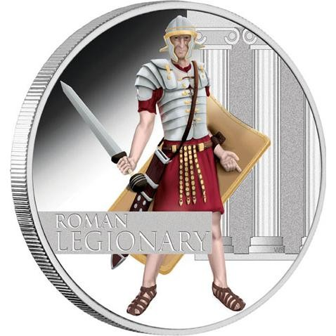 2010 Roman Legionary 1oz Silver Proof Coin Great Warrior