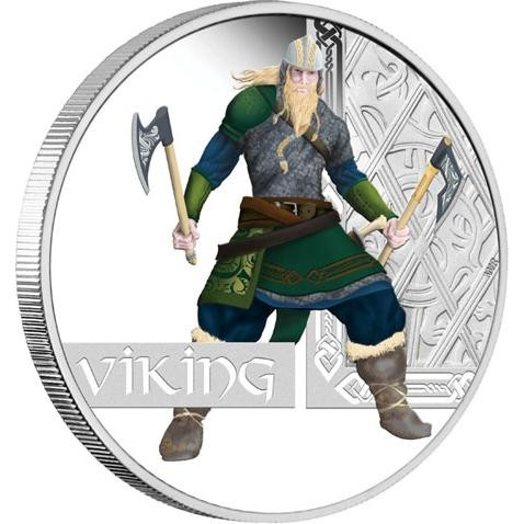 FREE SHIPPING 2010 Viking 1oz Silver Proof Coin Great Warrior Series