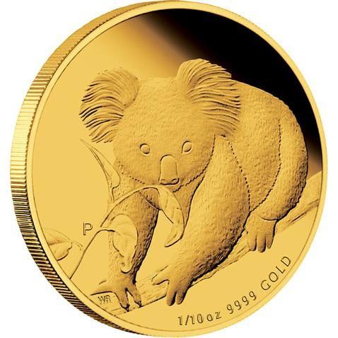 Australian Koala 2010 Gold Proof 1 10 Coin