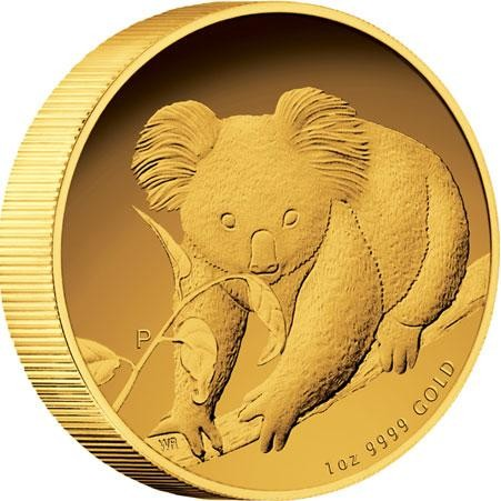 Australian Koala 2010 Gold Proof Coin  High relief