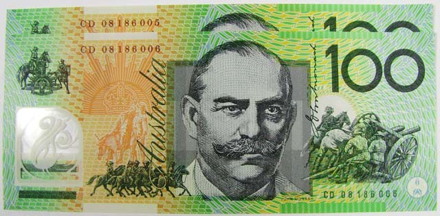 TWO UNC $100 NOTES  CD 08186005  TO CD 08186006 CO1027