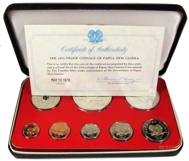 PROOF COINAGE PAPUA AND NEW GUINEA 1976   CO 1037