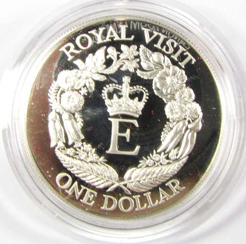PROOF SILVER 1986 ROYAL VISIT NEW ZEALAND  CO 1056