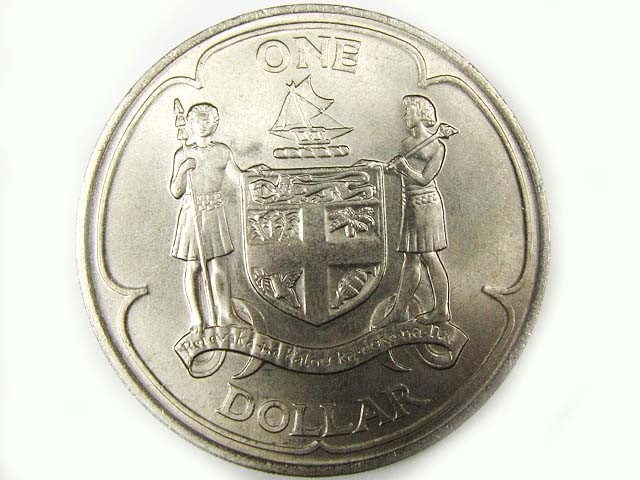 1969 FIJI ONE DOLLAR COIN START DECIMAL  T 1513