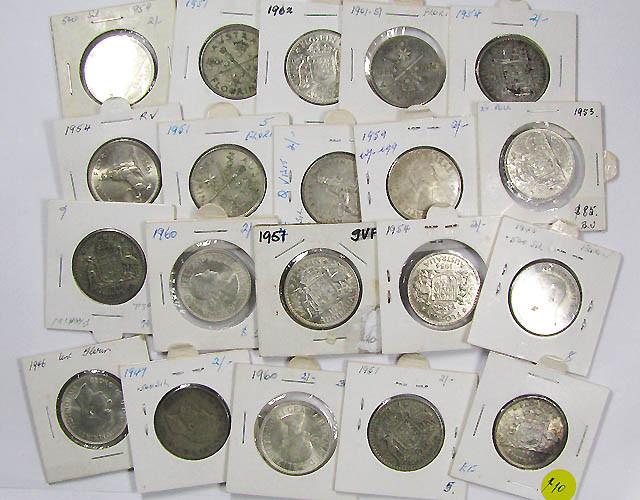 PARCEL 20 FLORIN COINS POST 1946 .500 SILVER J1537