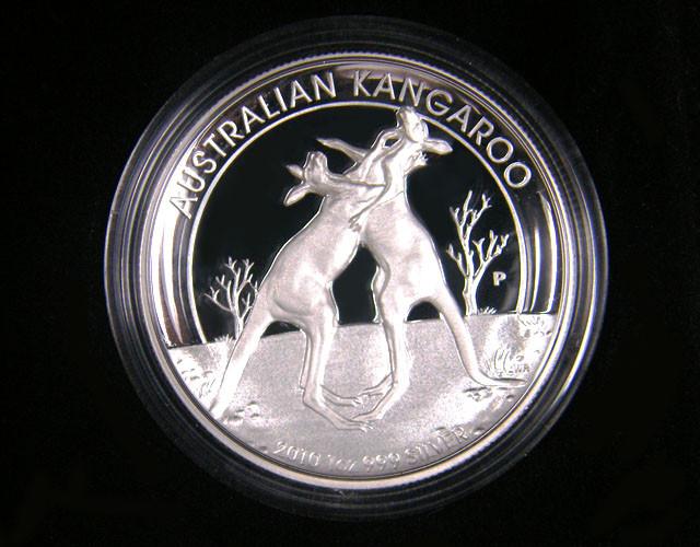 2010 Australian Kangaroo 1oz Silver Proof High Relief Coin