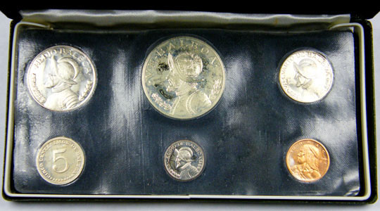 COLLECTORS SIX COIN  1974 PROOF BALBOA PANAMA  SET CO 1061