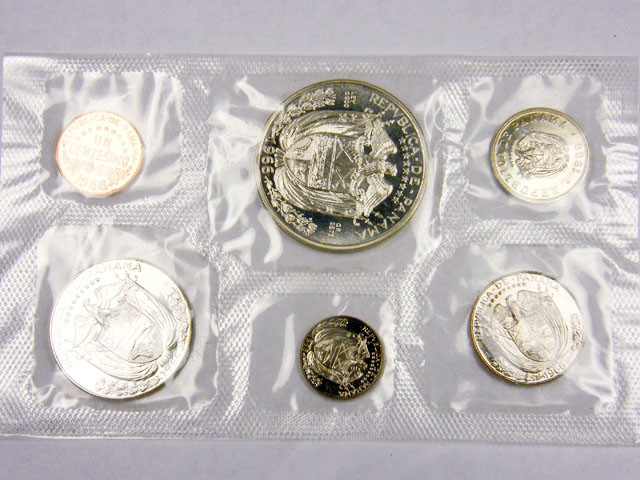 COLLECTORS SIX COIN  1966 PROOF BALBOA PANAMA  SET CO 1065