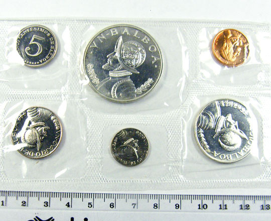 COLLECTORS SIX COIN  1967PROOF BALBOA PANAMA  SET CO 1067