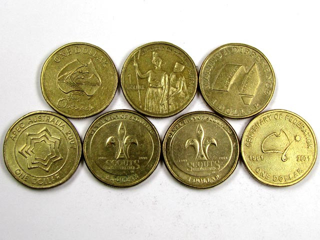 POST DECIMAL COINS   AUSTRALIAN $1.00  COINS J 1540