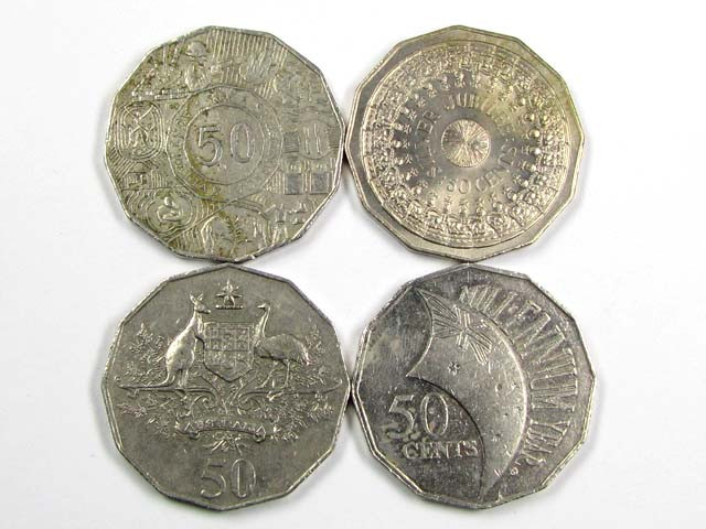 POST DECIMAL COINS .50 CENTS    J 1543