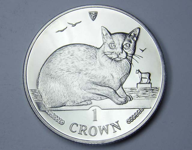Isle Of Man 1996 Burmese  Cat coin CO 1114