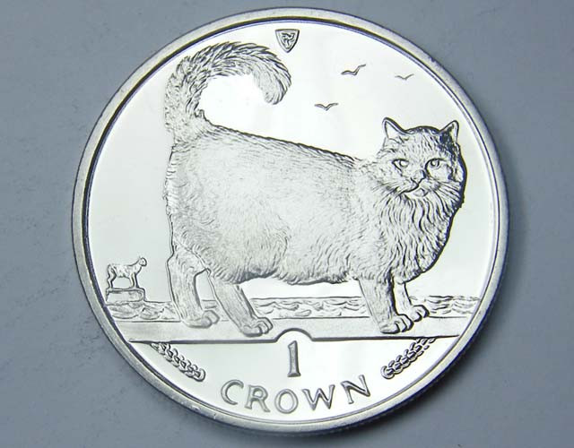 Isle Of Man 1998 Birman  Cat coin CO 1119