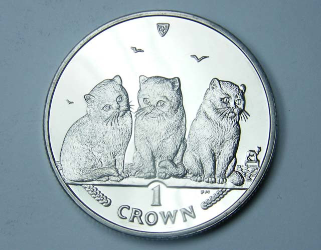 Isle Of Man 2006 Exotic Shorthair  Cat coin CO 1123