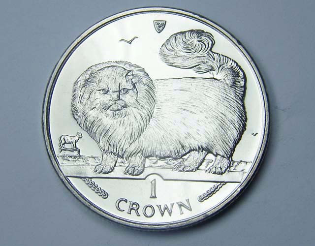 Isle Of Man 1997 Long Haired Smoke Cat coin CO 1129
