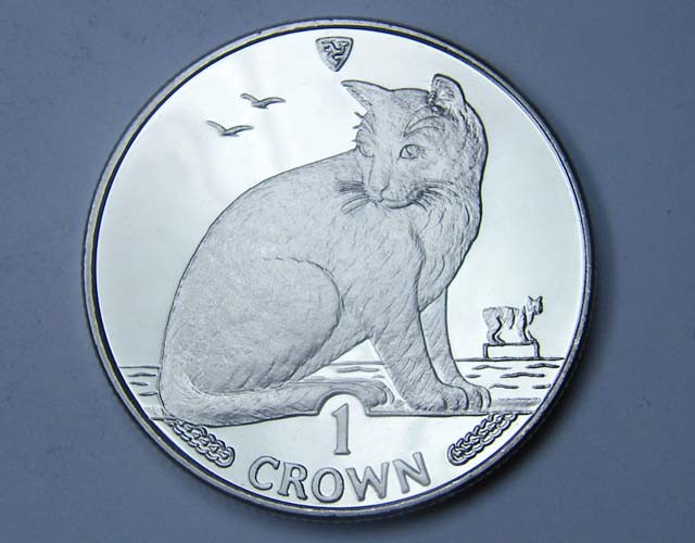 Isle Of Man 1990 New York alley Cat coin CO 1132
