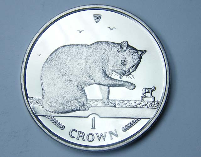 Isle Of Man British Blue  Cat coin CO 1134