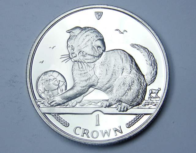 Isle Of Man 2000 Scottish Fold Kitten coin CO 1145