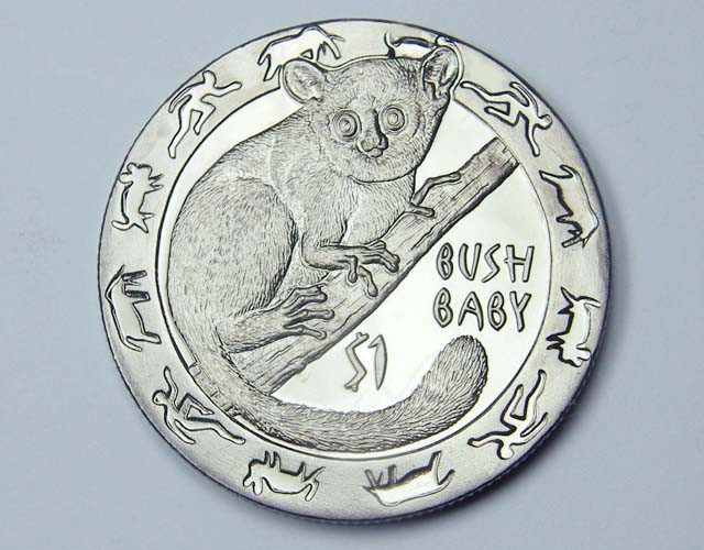 2008 Unc. Blackened  Nocturnal Animals: Bush baby co1156