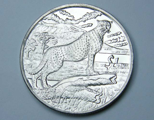 2007 Unc Animals Of Africa Cheetah Coin  Co1160
