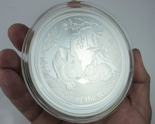 ONE KILO AUSTRALIAN LUNAR PROOF 2011 RABBIT COIN