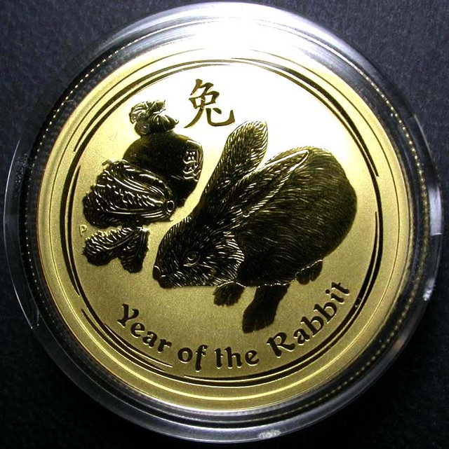 Lunar 2011 Rabbit 1/2 ounce Gold Gold Coin